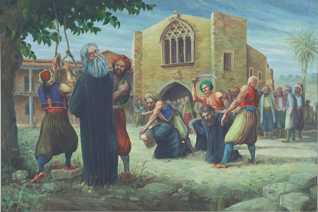 Ο ΑΡΧΙΕΠΙΣΚΟΠΟΣ ΚΥΠΡΟΥ ΚΥΠΡΙΑΝΟΣ 9-7-1821